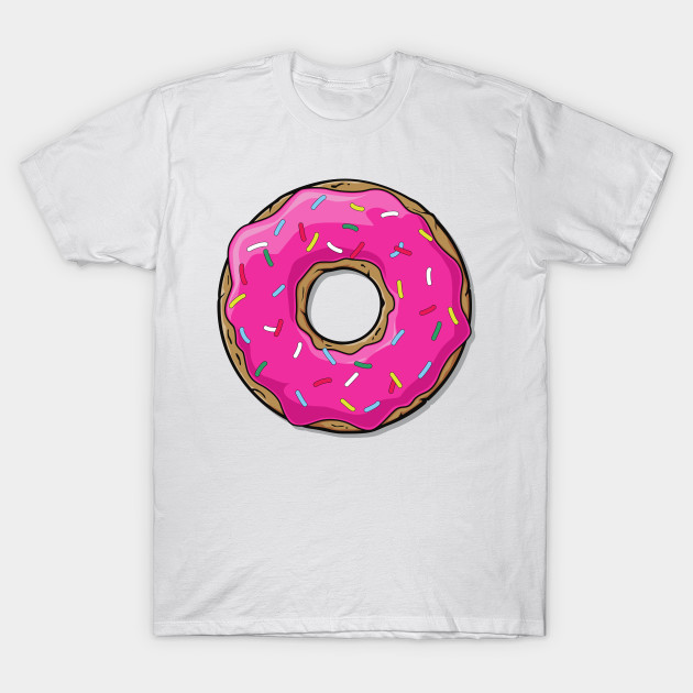 Pink Donut with Sprinkles - Pink Blue Yellow