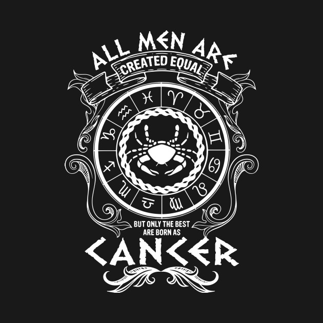 Cancer Zodiac Horoscope Astrology All Men Created Equal T-Shirt