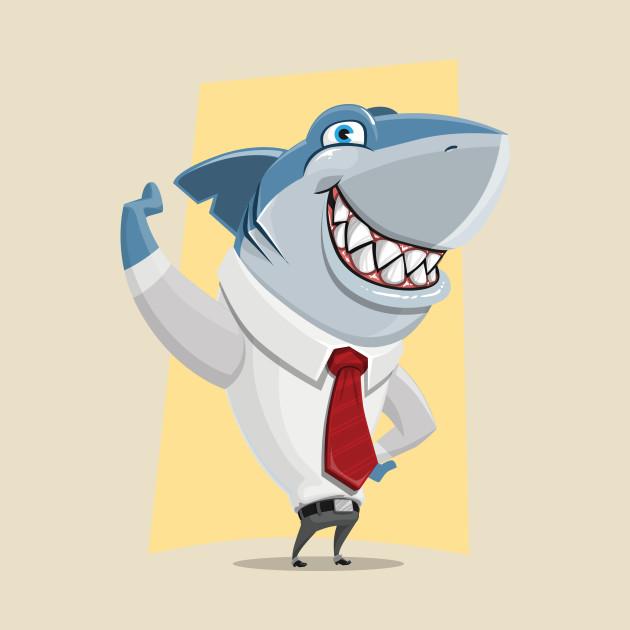 Well Dressed Shark - Shark - T-Shirt   TeePublic