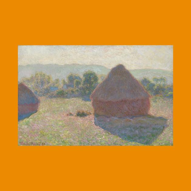 Haystacks midday - Claude MONET