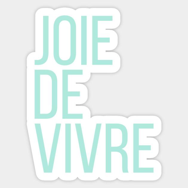 French Slogan Joie De Vive Kids Sweatshirt