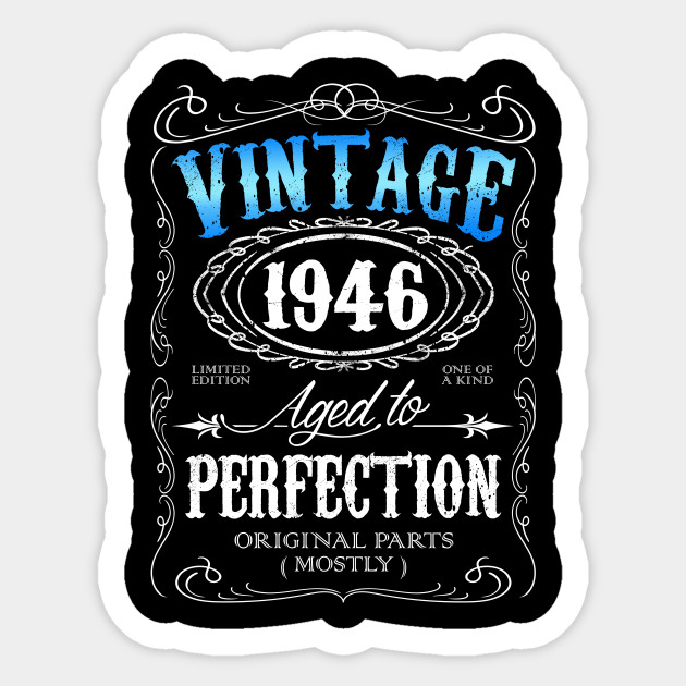 Vintage 1946 Aged To Perfection 70th Birthday Gift For Men 70