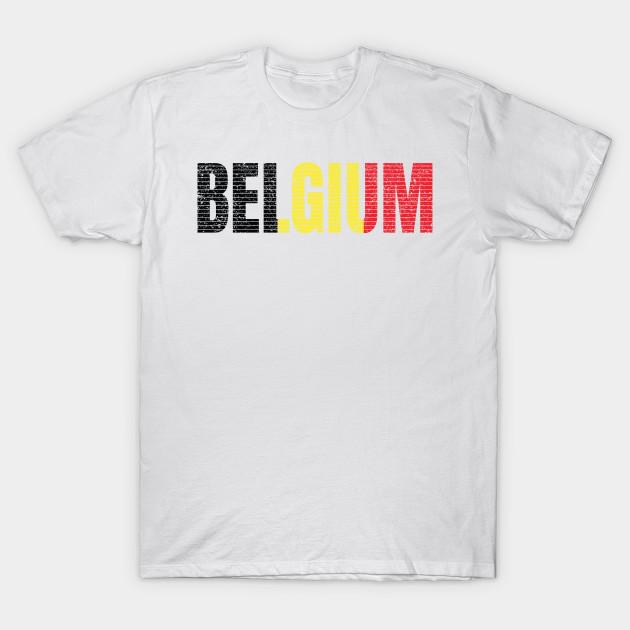 Belgium text T-Shirt