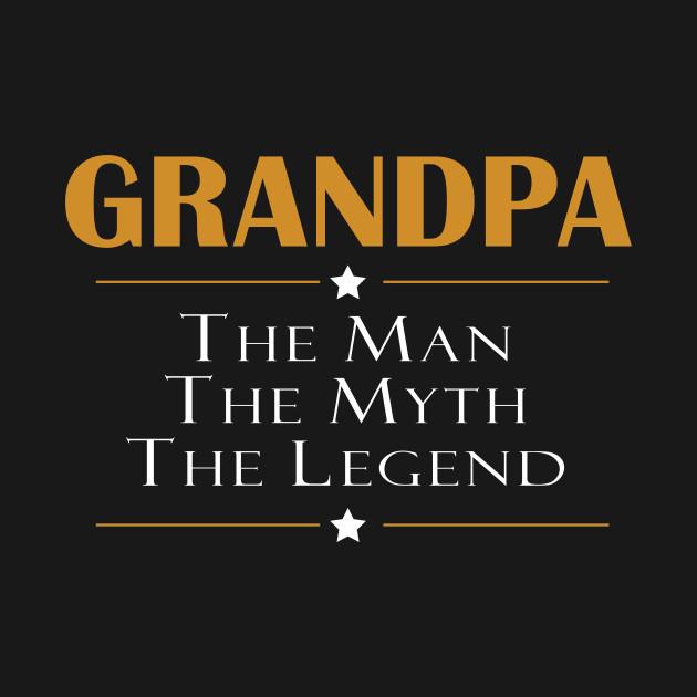 Grandpa the man the myth the legend granddad t shirt teepublic 170194 0 sciox Gallery