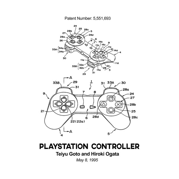 Playstation Controller Patent Black