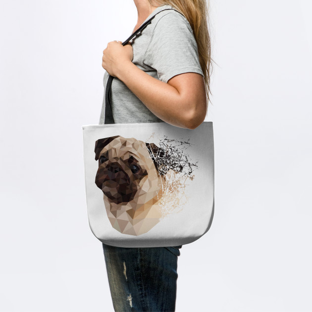 8a4482f084a9 Pug Shattered Designer T-Shirt for Dog Lovers - Pugs - Tote | TeePublic