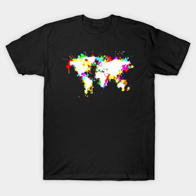 Graffiti world map t shirt school geography atlas global tee 2075059 1 gumiabroncs Images