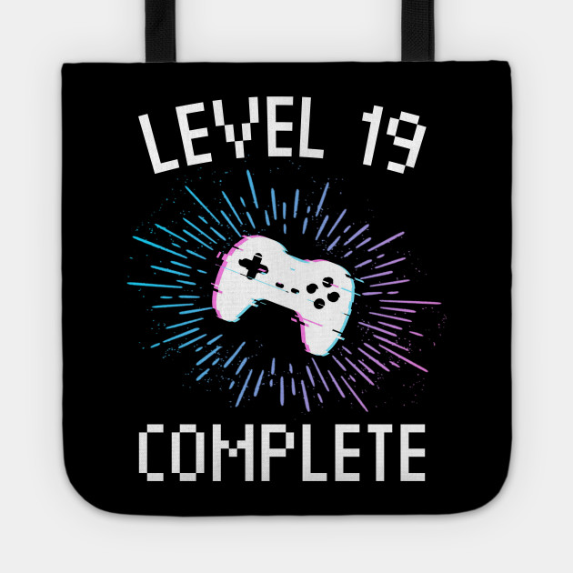 19th Birthday Gift Level 19 Complete Gamer Boy Or Girl Gift Video Gaming Birthday Party