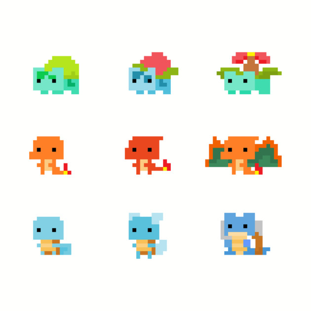 Starter Pokemon Pixels