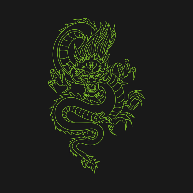 Green dragon t-shirts, pillows, bags, stickers, cases
