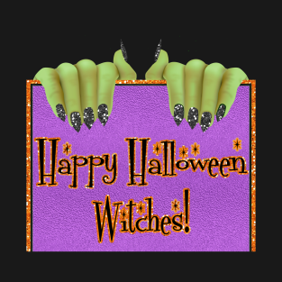 Happy Halloween Witches Funny T-Shirts | TeePublic
