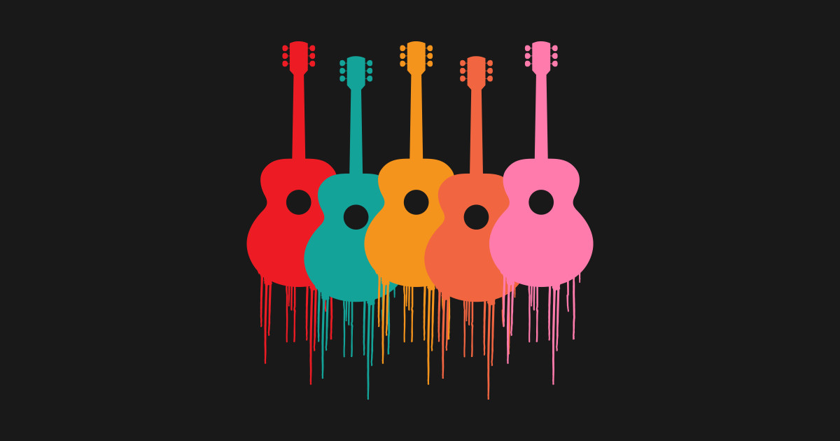 Colorful Guitars Music Youth T-shirt