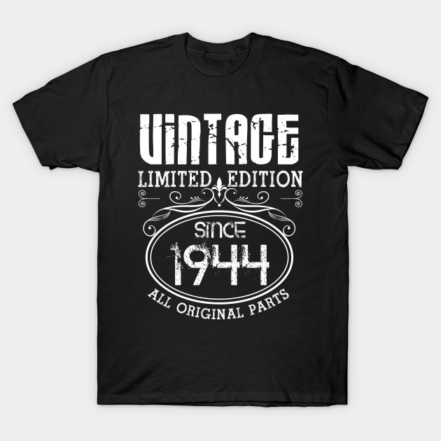 Vintage 75th Birthday Gift Papa Since 1944 Dad T Shirt