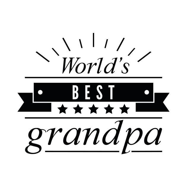 World S Best Grandpa Typography T Shirt Teepublic