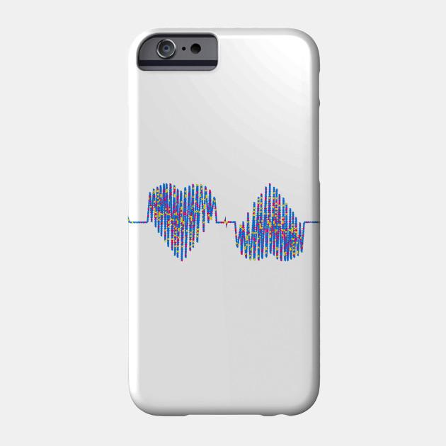 Beautiful heartbeat love heart design Phone Case