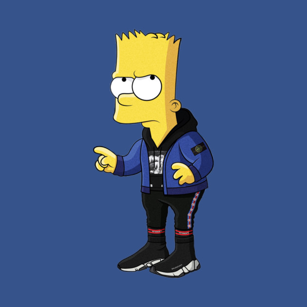 Hypebeast Bart Simpson Hypebeast Bart Simpson Long Sleeve T