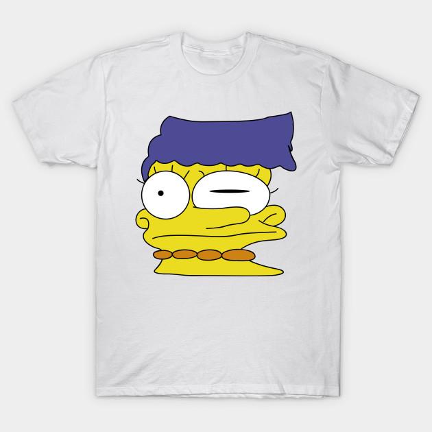 343c88b9 Smeared Marge Simpson - Simpsons - T-Shirt | TeePublic