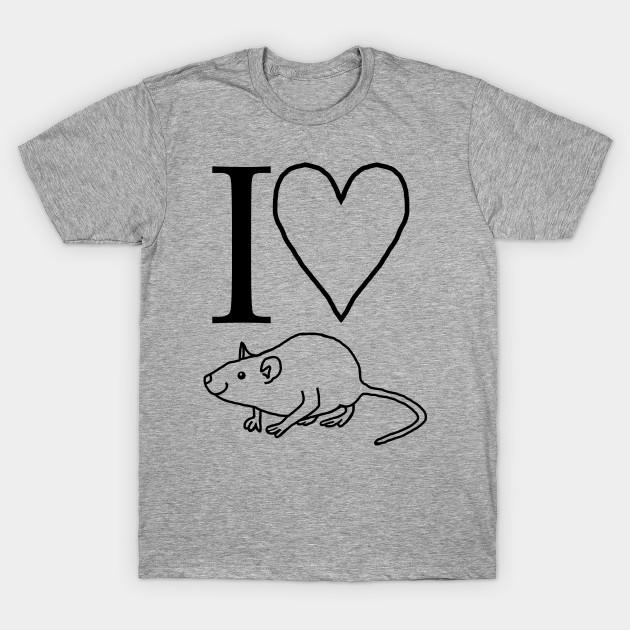 I Love Heart My Rats  T-Shirt