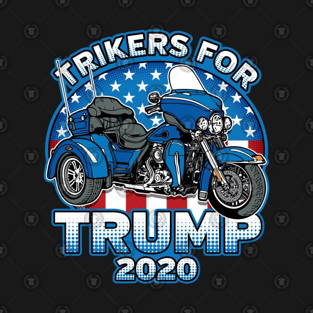 trikers for trump 2020 biker trump t shirt teepublic