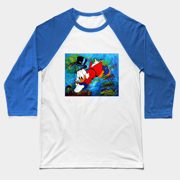 Uncle Scrooge Baseball T-Shirt