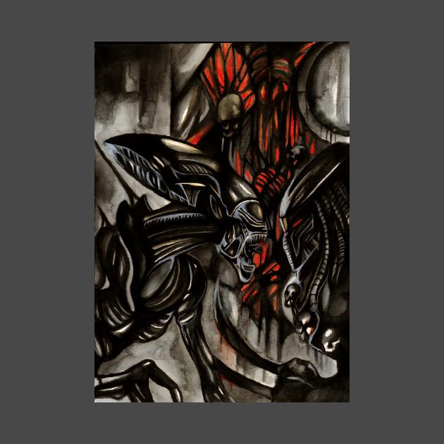 0bcd1c965d8726 Alien vs Predator - Alien Versus Predator - T-Shirt
