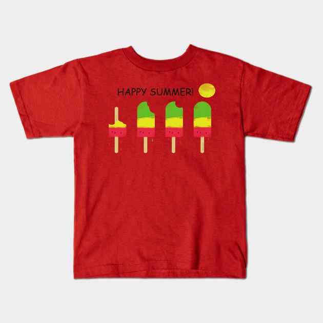 c27a2504 Happy summer T-Shit design - Summer - Kids T-Shirt | TeePublic