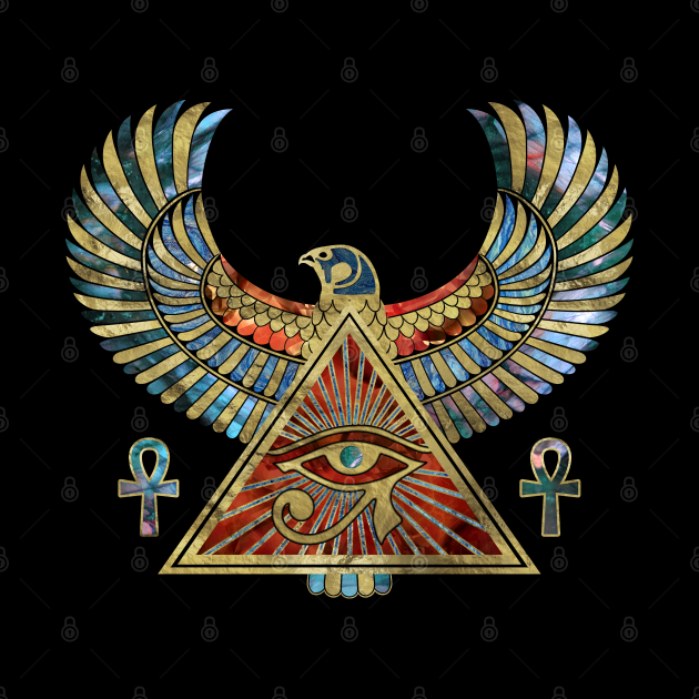 Eye of Horus - Wadjet  Gemstone and Gold