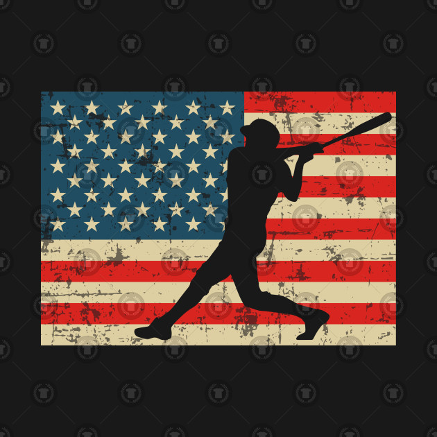 Batter Baseball American Flag Batter Baseball American Flag 472dd1e32