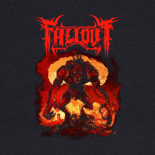 Unofficial Fallout Metal Band Tee