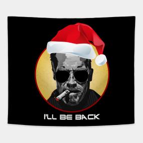 Terminator Christmas Jumper Arnold I/'ll Be Back Festive Adults /& Kids Jumper Top