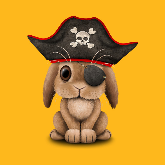 Cute Baby Bunny Pirate