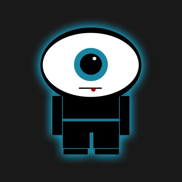 Eyes wide open (blue)