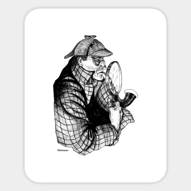 A Three Pipe Problem By Peter Melonas Sherlock Holmes The Detective Sticker Teepublic