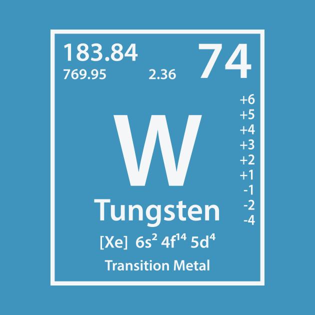 Tungsten Element Tungsten Pillow Teepublic