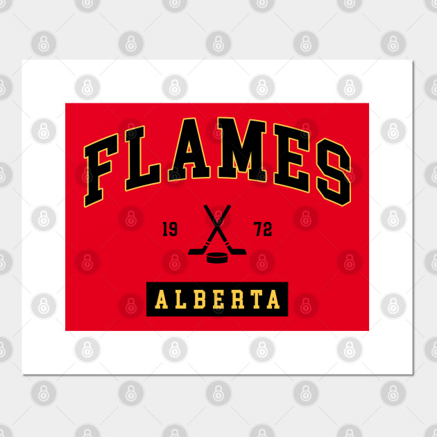 The Flames Calgary Flames Posters And Art Prints Teepublic