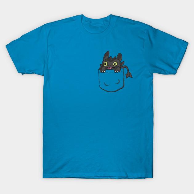 Pocket Toothless Dragon T Shirt Teepublic