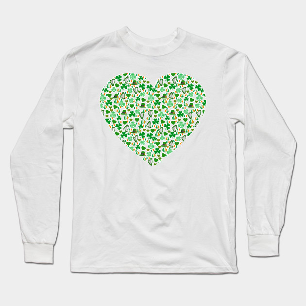 Irish Heart with Harps and Shamrocks