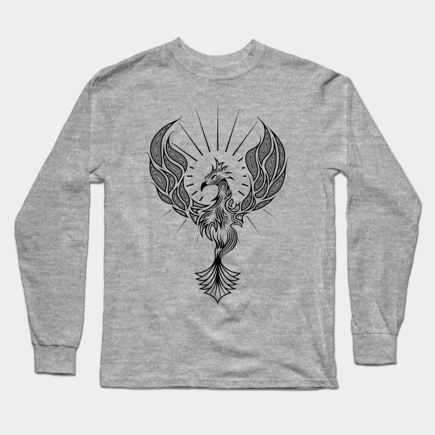 b821f752a Phoenix Tribal Tattoo Design - Tribal - Long Sleeve T-Shirt | TeePublic