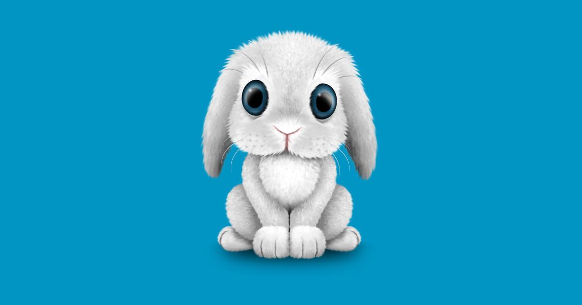 1ce23d6a3 Cute White Baby Bunny Rabbit by jeffbartels