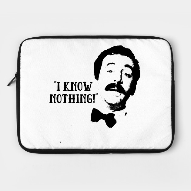 I Know Nothing! Manuel Fawlty Towers Quote & Graphic
