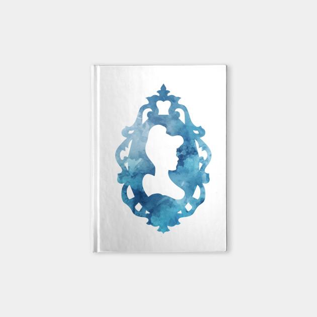 Cinderella Silhouette Frame - Cinderella - Notebook   TeePublic