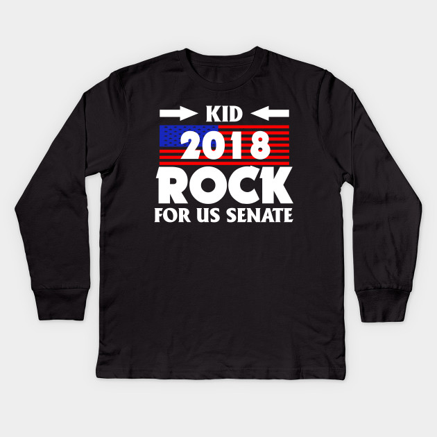 719254c2b Kid For US Senate 2018 Election Shirt In Rock We Trust Kids Long Sleeve T- Shirt