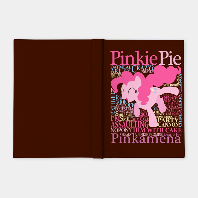 Many Words Of Pinkie Pie Tv Show Notebook Teepublic