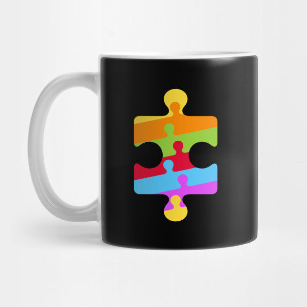 Vintage Autism Symbol With Jigsaw Pieces Autism Awareness Gift
