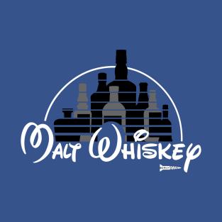 Malt Whiskey not Walt Disney t-shirts