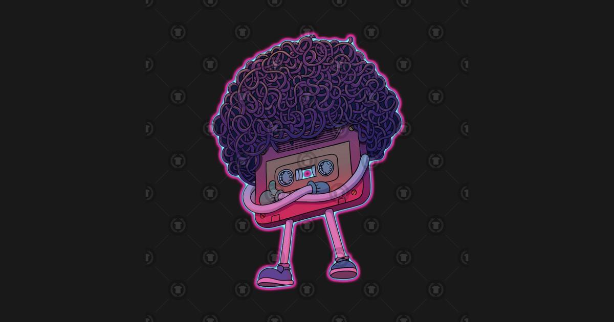 retro vintage 80s afro cassette by mrsda6