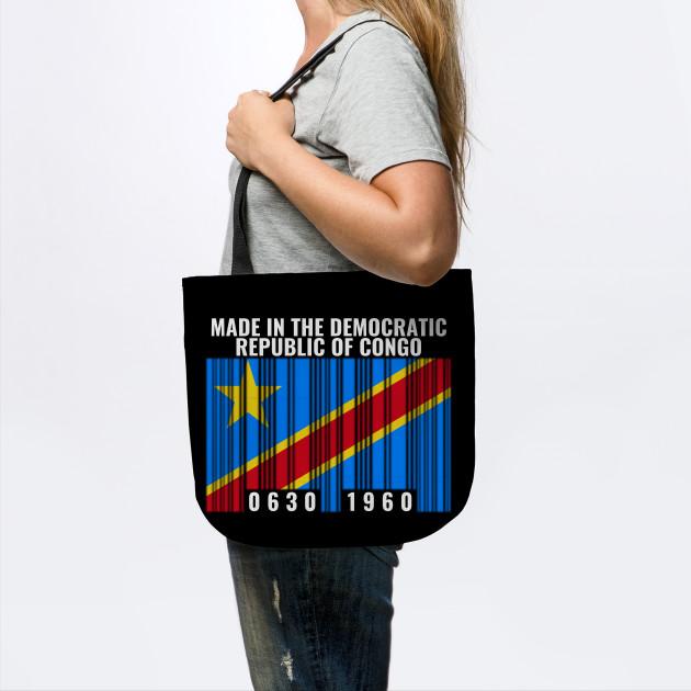 Congo Kinshasa Flag Womens Fashion Large Tote Ladies Handbag Shoulder Bag