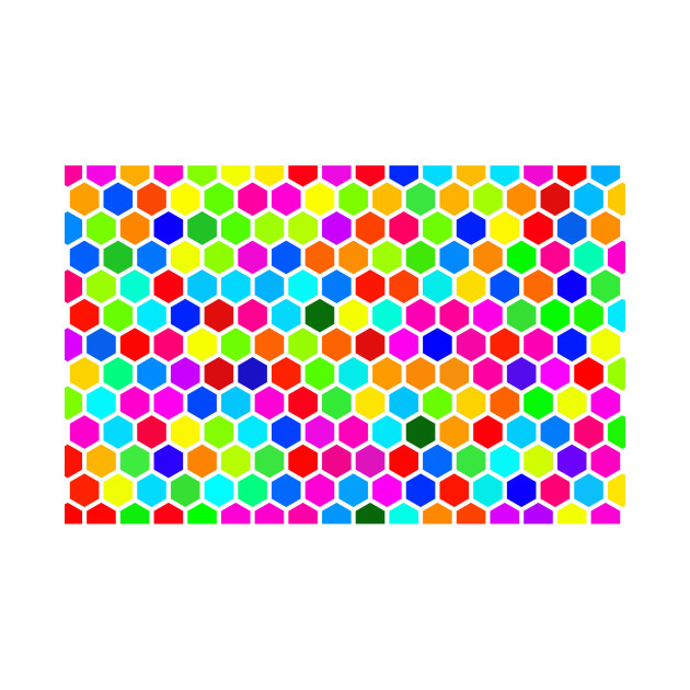 LIMITED EDITION Exclusive Colorful Hex Grid Pattern 4 Colorful