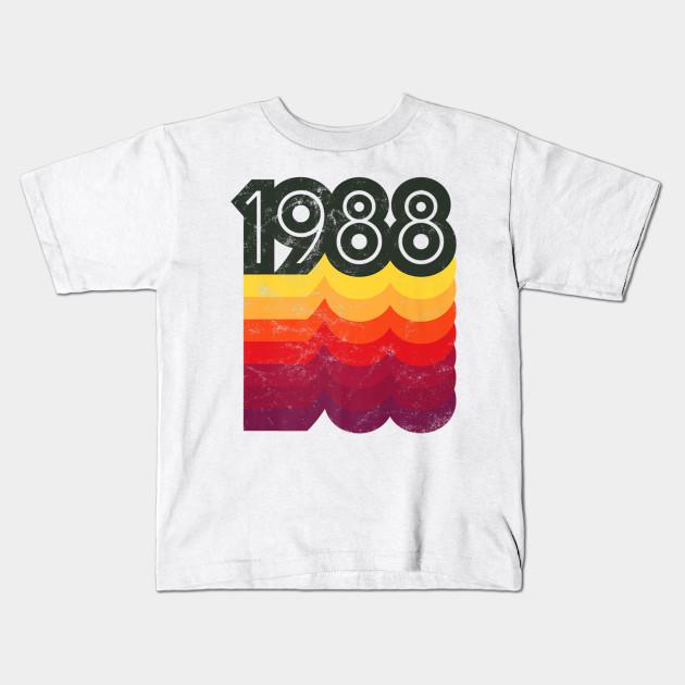 31st Birthday Shirt 1988 T Retro Style Kids
