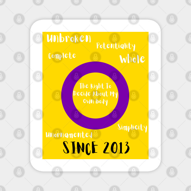 Intersex Pride Flag Meaning Lgbtq Magnet Teepublic